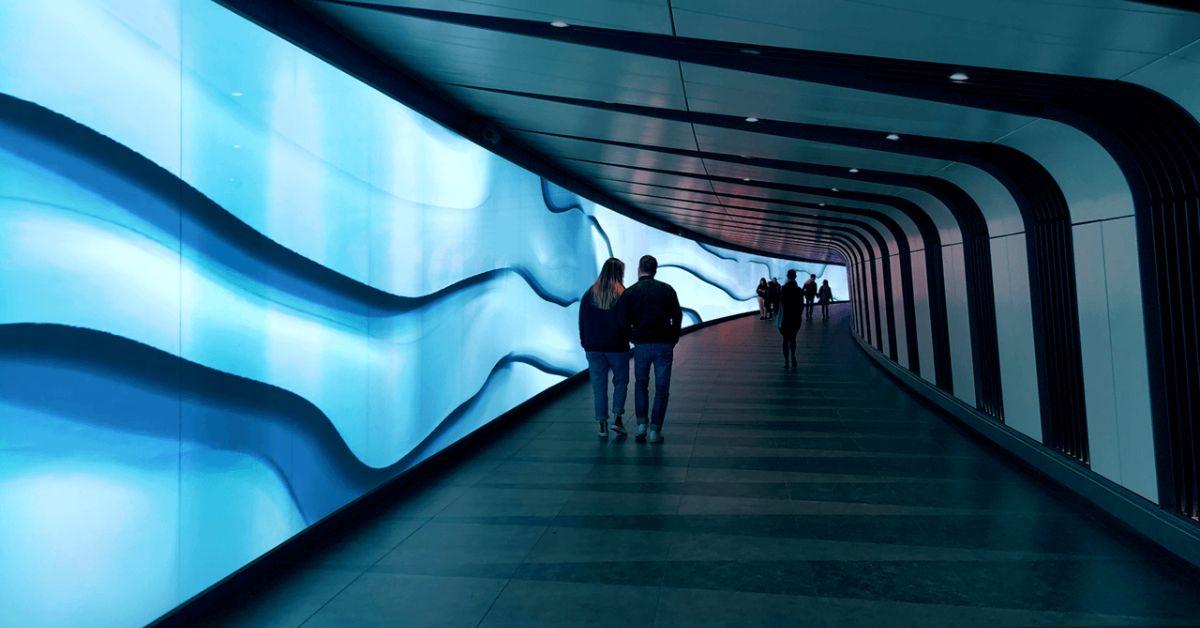 The shape of sounds: audio waves visualisation